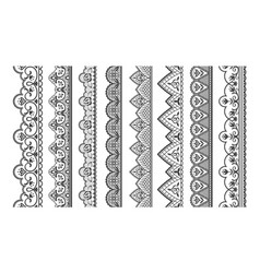 lace ornament seamless decorative borders for vector image