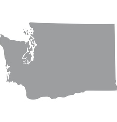 Map US state of Washington vector