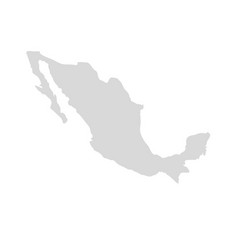 mexico map icon country america map vector image