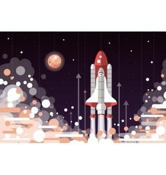 Modern flat design of space shuttle vector