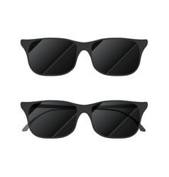 modern glossy sunglasses on white vector image