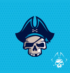 Modern professional emblem pirates for american vector
