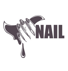 Nail studio or beauty salon isolated icon female vector