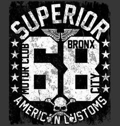 new york varsity tee graphic design vector image