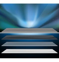 Northern blue aurora design vector