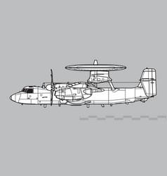 Northrop e-2d advanced hawkeye vector