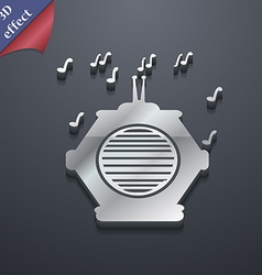 old analog radio icon symbol 3D style Trendy vector image