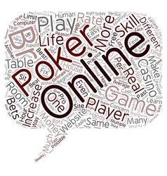 Online poker games 1 text background wordcloud vector