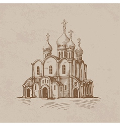 Orthodox church vector image