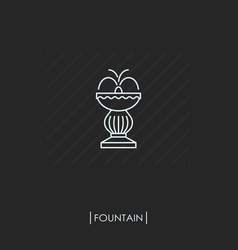 outline fountain icon isolated vector image