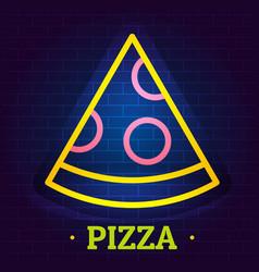 Pizza logo flat style vector