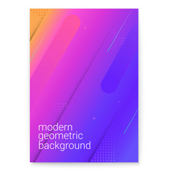 poster with modern gradient and minimalistic vector image