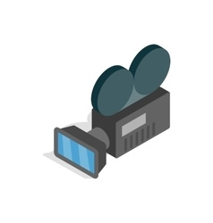 Retro cinema camera icon isometric 3d style vector