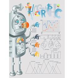 robot infographic design eps10 vector image