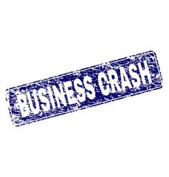 scratched business crash framed rounded rectangle vector image