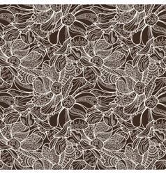 Seamless Floral Zentangle Pattern vector image