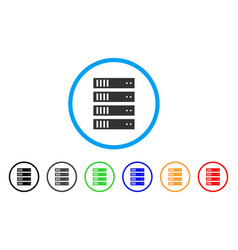 server rounded icon vector image