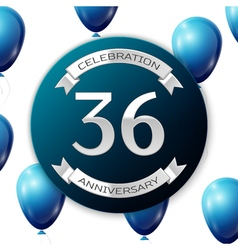 Silver number thirty six years anniversary vector