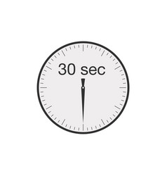 Simple 30 seconds or 30 minutes timer stock vector