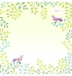 Sing bird spring vector