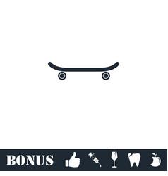 skateboard icon flat vector image