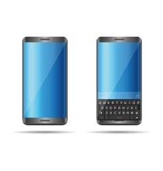 Smartphone with full keyboard vector image