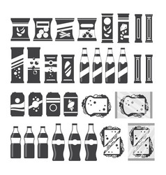 Snack product set for vending machine in vector