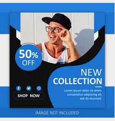 social media post template vector image