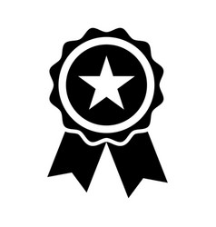 Star quality badge vector