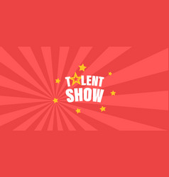Talent show letters vector