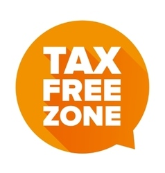Tax free orange speech bubble vector image