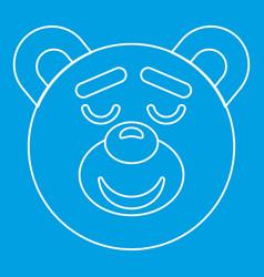 Teddy bear head icon outline style vector