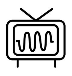 Television frequency audio sound line style icon vector