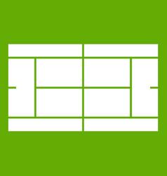 Tennis court icon green vector