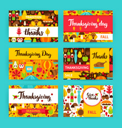 Thanksgiving label set vector