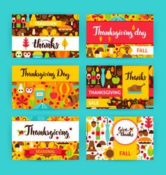 thanksgiving label set vector image