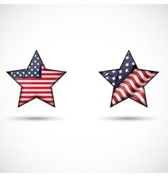 united states flag glossy star symbol vector image