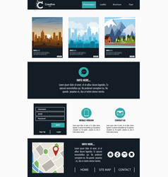 Urban website template vector