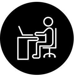 using laptop icon vector image