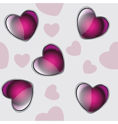 valentine seamless hearts pattern background vector image
