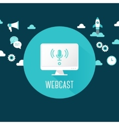 Webcast or live stream computer vector