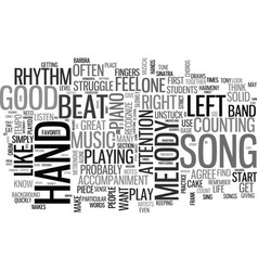 what makes a piece of music a good song text word vector image
