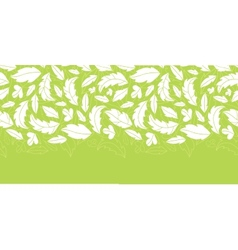 White on green leaves silhouettes horizontal vector image