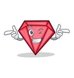 Wink diamond character cartoon style vector