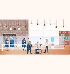 worker make successful deal at coworking space vector image