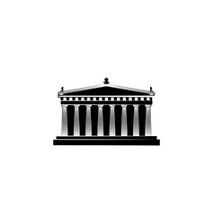 World attractions parthenon black on white vector