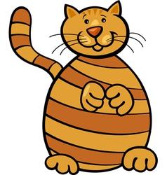 yellow tabby cat vector image