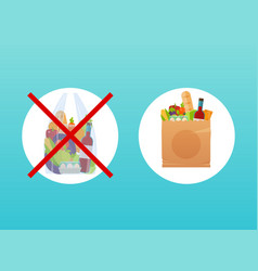 choice between paper or cellophane bag vector image
