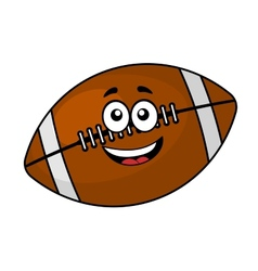 Fun happy football or rugby ball vector image vector image