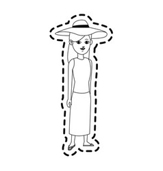 pretty young woman icon image vector image